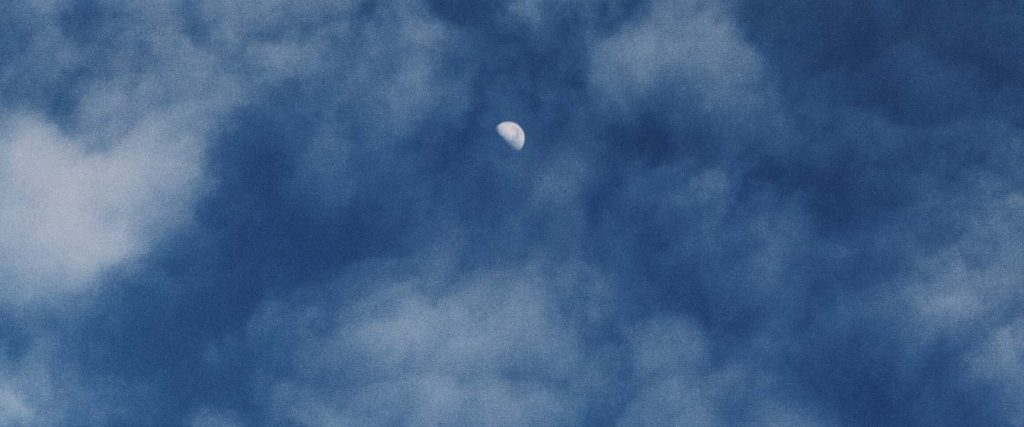Half Moon With Clouds