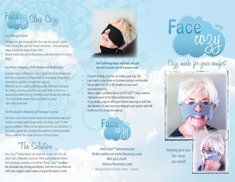Face Cozy Brochure Cover